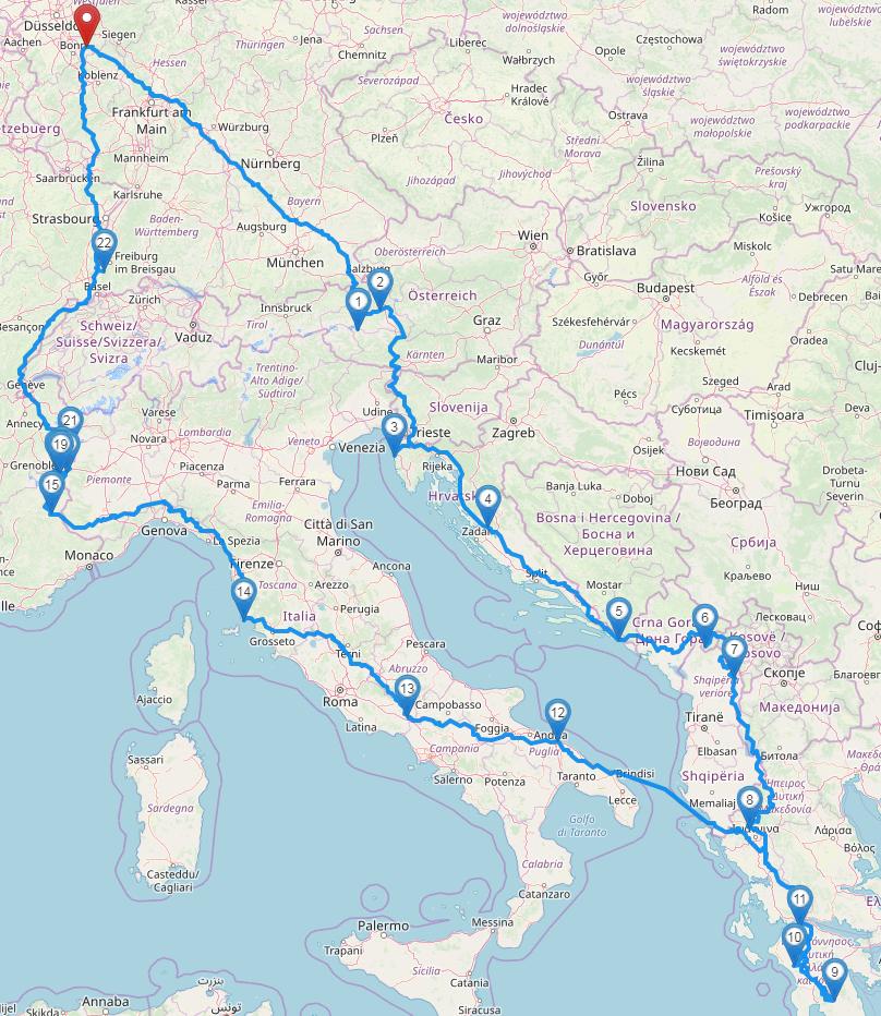 Die Route für 2019